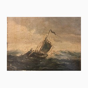 Sailing Ship in a Storm, Douwer, Wind Deco Painting