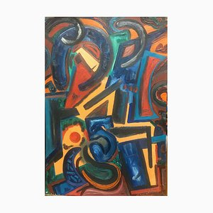Eike Meyer Daniel, Horseshoe, 1961, Oil Painting