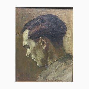 Josef Friedhofen, Profile Of Man, 1930, huile sur toile