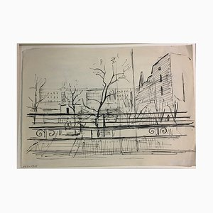 Ernst Krantz, City Sketch I, 1947, India Ink