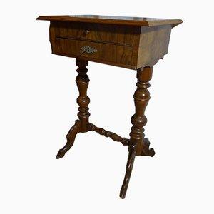 Walnut Veneered Sewing Table