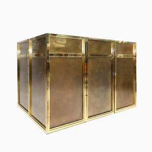 Brass Bar by Maison Jansen, 1980s