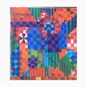 Günther Berger, Composition des couleurs, 1963, Technique mixte