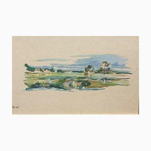 Landschaft, Gouache