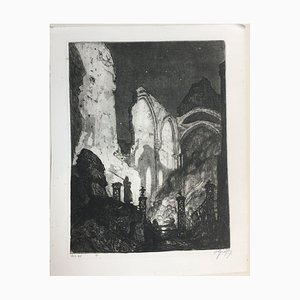 Oskar Graf, Veille nocturne sur les gens, Eau-forte