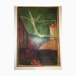 Lake House, 1971, crayón de cera