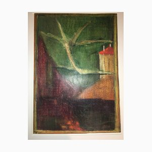 Lake House, 1971, Wax Crayon