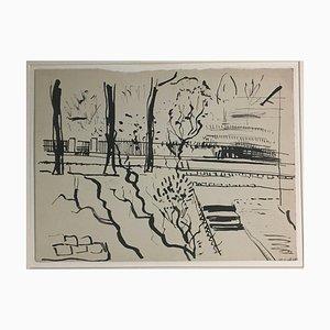 Ernst Krantz, Berlin City Sketch, 1947