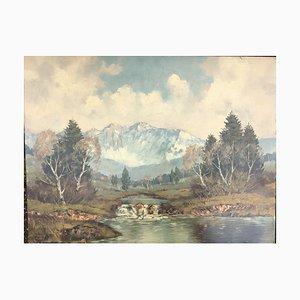 Mountains, Öl auf Maisonite