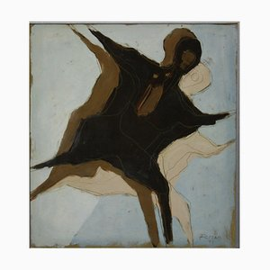 Robert Freund, 1929, figure, techniques mixtes
