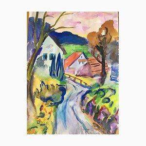 Heymo Bach, Circle Mountain Road, 1996, Acquerello