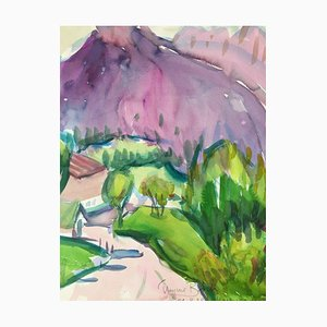 Heymo Bach, 1988, Watercolor