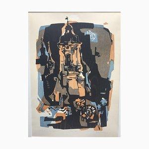 Ernst Wanner, 1917-2002, Aalen Towers, Holzschnitt