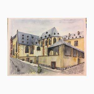 Erika Abt, Carmel Kloster Liter von 1930, 1992, Aquarell