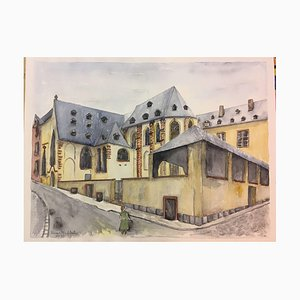 Erika Abt, Carmel Monastery Liters of 1930, 1992, Watercolor