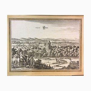 Matthaeus Merian, Oron Le Chatel Broyle, Copper Engraving