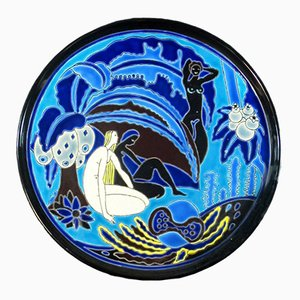 Art Deco Dish from Longwy for Primavera, 1930s