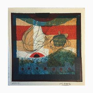 Manuel Bea Cervera, 1934-1997, Abstrakte Komposition, Lithographie