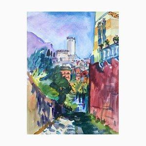 Malcesine, Lago di Garda, 1991, Watercolor