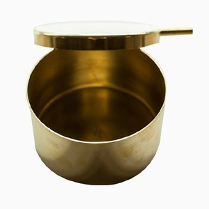 Brushed & Polished Brass Jewelry Box by Lee West for Carl Auböck