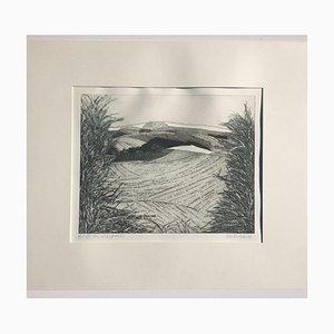 Peter Redeker, Landschaft, Radierung