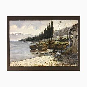 Salo Lake Garda, 1911, Watercolor