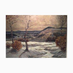 Landschaft, Öl auf Holzplatte