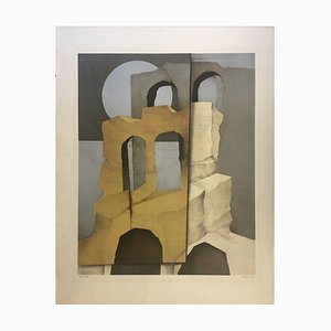 Müller-Erbach Hans-Otto, 1970er, Erbach Composition, Lithographie