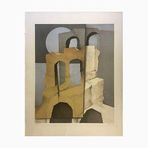 Müller-Erbach Hans-Otto, años 70, Erbach Composition, Lithographie