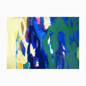 Jung In Kim, Abstract Color 7, 1996, Acrylic on Paper