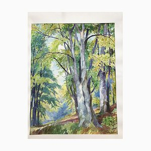 Willy Detert, Berlin Grunewald, Watercolor