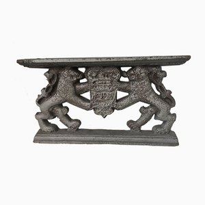 Lion Cast Iron Fireplace Base Support, 1688
