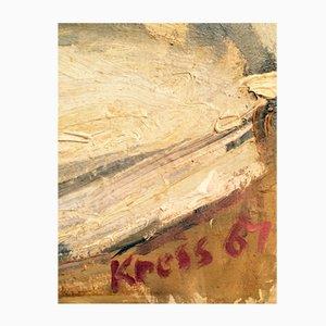 Karl-Heinz Kress, 1967, Naked Rubensfraugeil Chubby, Oil on Cardboard