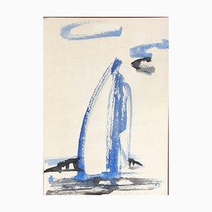 Uta Weik, Sailboat, 1998, Watercolor