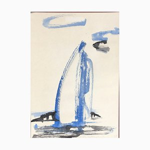Uta Weik, Segelboot, 1998, Aquarell