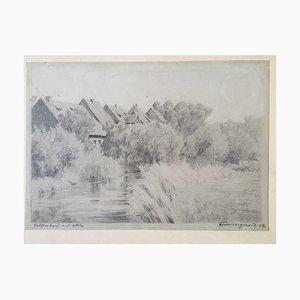 Werner Willgerodt, 1907, Veltenhof an der Oker; Landschaft, Bleistift