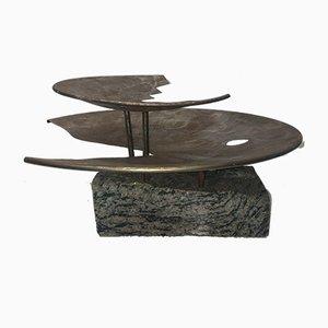 Vintage Spiral Granite Sculpture