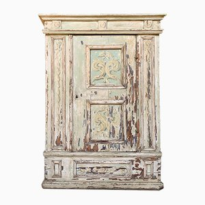 Antique Italian Painted Polychrome Decor Cabinet
