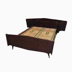 Vintage Doppelbett, 1950er