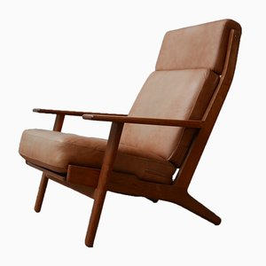 Mid-Century GE-290 Oak Armchair by Hans J. Wegner for Getama, 1960s