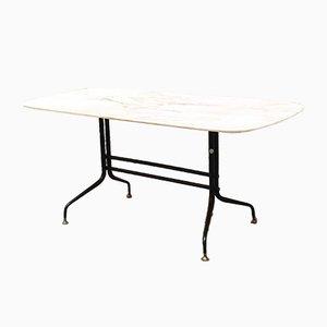 Mid-Century Modern Italian Portugese Marble & Metal Coffee Table, 1960s