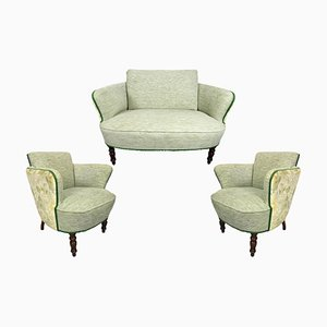 Vintage Sofas Armchairs, Set of 3