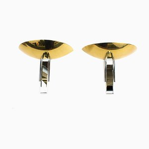 Art Deco Style Wall Lights, 1970s, Set of 2