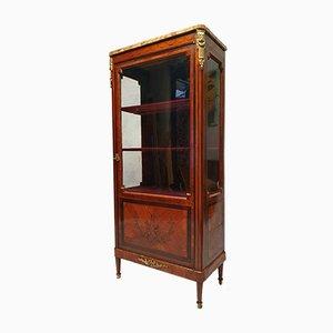 19th Century Louis XVI Marquetry Amarante & Rosewood Showcase