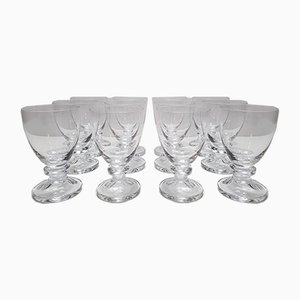 French Crystal Model Fomerdey Glasses from Daum, 1970s, Set of 12