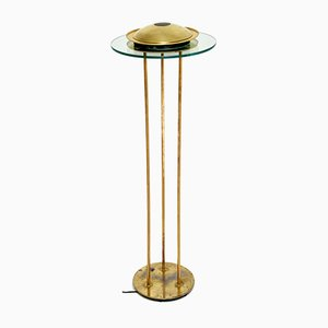 Vintage Brass Floor Lamp by Robert Sonneman for George Kovacs, 1970s