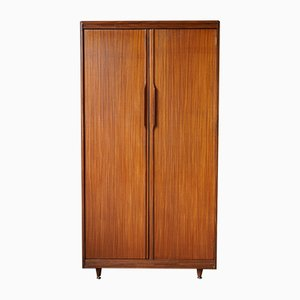 Mid-Century Teak & Rosewood Fitted Gentleman's Wardrobe from White and Newton, 1960s
