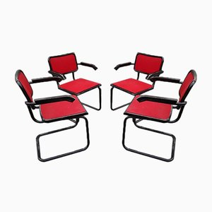 Model B64 Dining Chairs by Marcel Breuer, 1980s, Set of 4