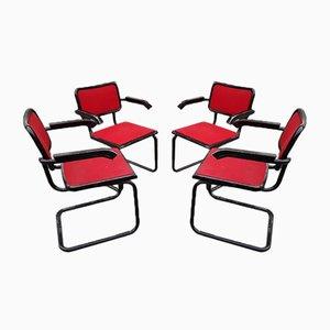 Modell B64 Esszimmerstühle von Marcel Breuer, 1980er, 4er Set