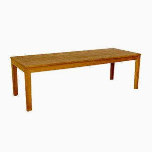Swedish Minimalist Oak Bench, 1960s